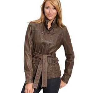 Kenneth Cole Reaction leather jacket s